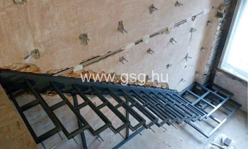Lebegő lépcső acélszerkezet Budapesten